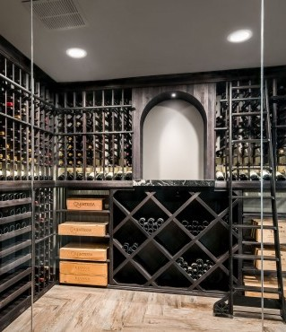 Glass Encased Wine Cellar